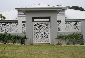 Decorative laser cut gate.index