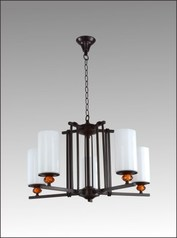buy Cup Chandelier Black