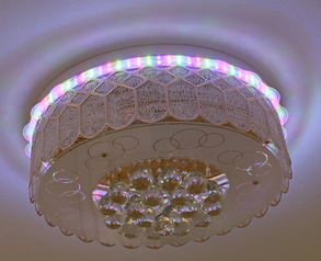 buy USB Bluetooth Flush LED Chandelier 02