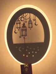 buy Moon Star Round LED Wall Lamp