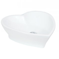 Top counter heart wash basin white.index