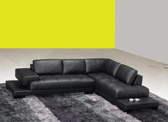 buy Black Leather Sofa