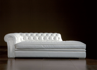buy Genuine White Leather Couch