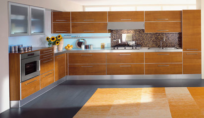Beautiful kitchen cabinet brown white with island lagos abuja phc nigeria  lagbaja.index
