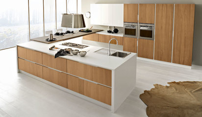 Beautiful kitchen cabinet brown white with island lagos abuja phc nigeria  larageorge.index