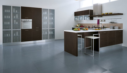 Kitchen cabinet brown white with island lagos abuja phc nigeria  2baba.index