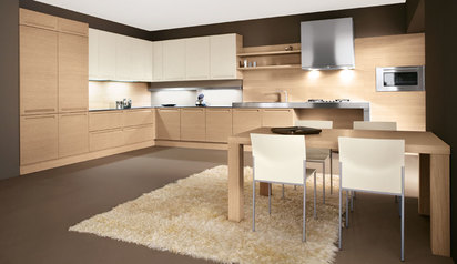 Kitchen cabinet brown white with island lagos abuja phc nigeria  eldee.index