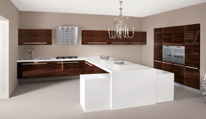 Kitchen cabinet brown white with island lagos abuja phc nigeria  t.bello.index
