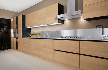 Modern kitchen cabinet light brown with island lagos abuja phc nigeria lane7 design   ayinde.index