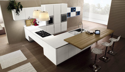 Modern kitchen cabinet white white with island lagos abuja phc nigeria lane7 design   t.alabi.index