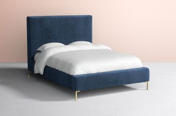 Blue upholstered bed   abuja lagos portharcourt nigeria lane7.index