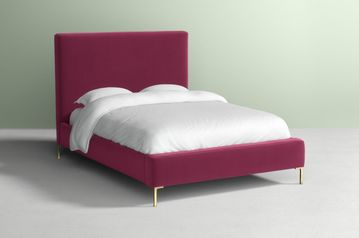 Red velvet upholstered bed  abuja lagos portharcourt nigeria lane7.index