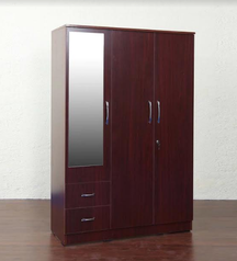 buy Brown 3 door Wardrobe
