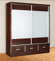 buy Dark wood 2 door Wardrobe