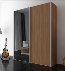 buy European standard wood 2 door Wardrobe