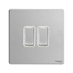 buy SCHNEIDER ULTIMATE 2G 2W SWITCH - STAINLESS