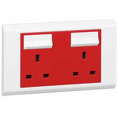 buy LEGRAND BELANKO 13A DOUBLE SOCKET RED(UPS)