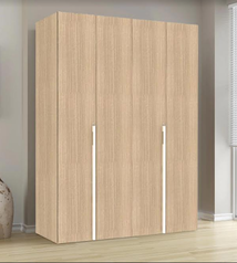 buy Brown modern 4 door wardrobe