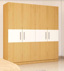 buy Brown & white 4 door wardrobe