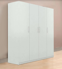 buy White 4 door wardrobe
