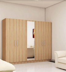 buy Modern brown 6 door wardrobe