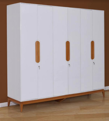 buy Dumont 6 door wardrobe