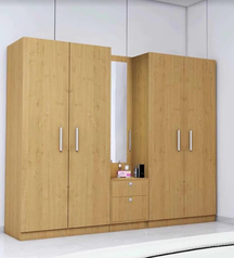 buy Gold brown 6 door wardrobe