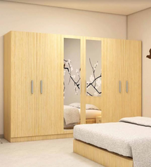buy Rich brown 6 door wardrobe
