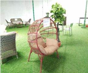 Round garden chair with cushion  kl112   abuja lagos porthrcourt nigeria lane7.index
