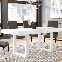 Supreme dining table glossy white lagos abuja portharcourt nigeria lane7.index