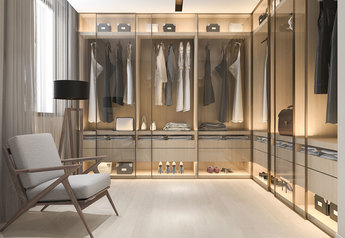 buy Modern Clear Glass Wardrobe