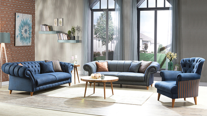 buy Tufted Chesterfield Settee